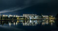 Kajaani city at night by =Puuronen on deviantART