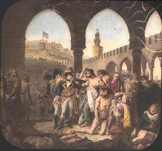 Napoleon Bonaparte Visiting the Plague-Stricken at Jaffa' (1799) artist:Antoine-Jean Gros