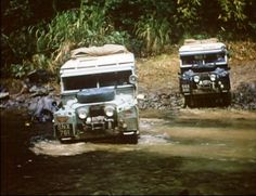 Landrover Overland. 1950's series 2 Land Rovers.