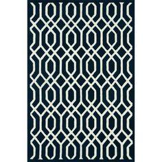 Hand-tufted Logan Navy Wool Rug (3'6 x 5'6)