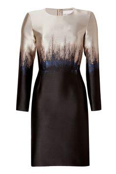 MARY KATRANTZOU Long Sleeve Printed Dress in Saga Trees
