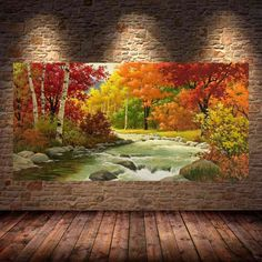 Avikalp Exclusive Flowing River Nature Fall Scenery Full HD Wallpapers for Living room, Hall 3d Wallpaper Glass, 3d Wallpaper Painting, 3d Wallpaper Cartoon, 3d Wallpaper For Walls, Full Hd Wallpaper, Painting Abstract, 3d Wallpaper Waterfall, 3 Piece Canvas Art, Different Forms Of Art