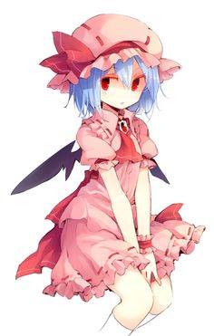 """Remilia Scarlet from """"Touhou Project"""" - Artist: Unknown"""