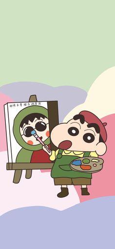 Sinchan Wallpaper, Aesthetic Iphone Wallpaper, Aesthetic Wallpapers, Sinchan Cartoon, Crayon Shin Chan, Landscape Wallpaper, Cute Cartoon Wallpapers, Cute Drawings, Manga Anime