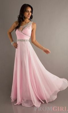 Chiffon Long Dress A-Line Pink Dress Homecoming dresses. This would be so cute if I ordered it in red and it was altered to be short. Prom Dress 2014, Homecoming Dresses, Bridesmaid Dresses, Beaded Prom Dress, Wedding Bridesmaids, Pink Dress, Dress Up, Dress Long, Evening Dresses