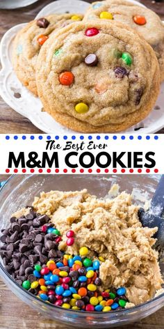These M&M Cookies will soon become your new favorite. They're soft, chewy & packed with M&Ms for the perfect treat. Easy, no chill, & the absolute best M and M cookies around! # Desserts for kids Soft and Chewy M&M Cookies recipe snacks Cookies Receta, M M Cookies, Keto Cookies, Cookies Et Biscuits, Cookies Soft, Cookies Kids, Cream Cookies, Cookies Light, Spice Cookies