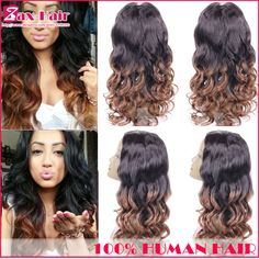 Human hair u part wig ombre body wave wig two tone u part human hair wigs for black women middle left right part 6A 130% density