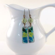 Blue Horizon Earrings by CinLynnBoutique on Etsy