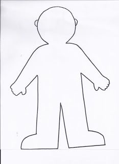 Little Girl Body Outline Template NextInvitation Templates ...