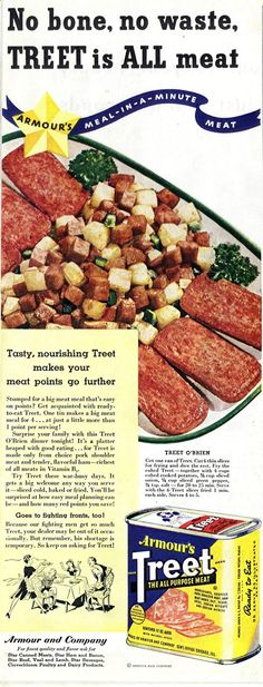 Treet Advertisement Published in The July 1943 issue of Woman's Home Companion Magazine