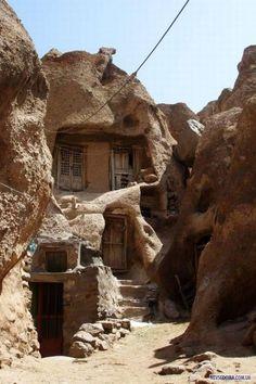 Kandovan, a seven centuries old troglodyte village in Iran.