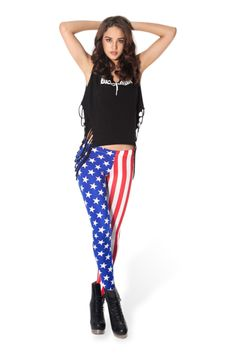 Kids in Amerika Leggings - LIMITED › Black Milk Clothing Yes I did, I JUST BOUGHT THESE!! I am going to ROCK this July 4th!