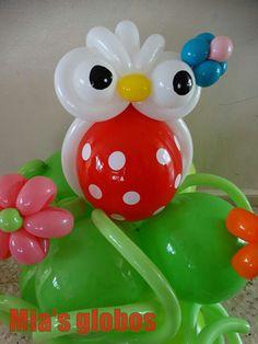 Owl in balloons/ buho en globos