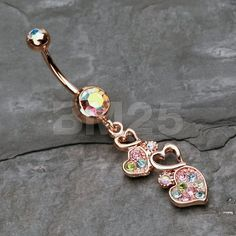 Unique Belly Rings, Gold Belly Button Rings, Belly Button Piercing Jewelry, Cute Belly Rings, Ear Piercings Cartilage, Piercing Ring, Piercing Ideas, Tongue Piercings, Cartilage Earrings