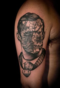 Another awesome portrait by Pietro Sedda. Face Tattoos, Body Art Tattoos, Sleeve Tattoos, Portrait Tattoos, Men Portrait, Tattoo Ink, Arm Tattoo, Tattoo Drawings, Geometric Tattoo Design