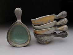 musing about mud: New Soda Work by Kenyon Hansen, small soda fired ceramic bowls