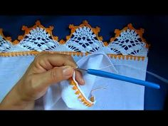 Bico em croche - 105 - YouTube Knit Or Crochet, Crochet Stitches, Crochet Designs, Crochet Patterns, Crochet Borders, Crochet Videos, Diy And Crafts, Knitting, Blog
