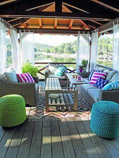 Monta tu salón en el jardín