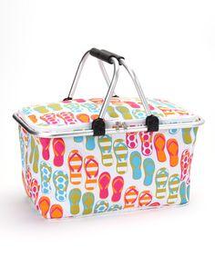 07d55cf4191af9 DEI Flip-Flop Insulated Market Basket