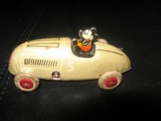 Vintage 1930's Mickey Mouse Wind Up Race Car #5 #Disney