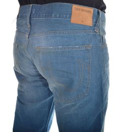 True Religion Mens Jeans Size 34 Geno Relaxed Slim in Ocean Flow NWT $248 #TrueReligion #Relaxed