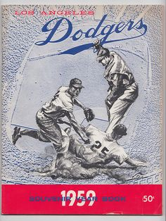 1959 Los Angeles Dodgers Baseball Yearbook World Series Champs | eBay