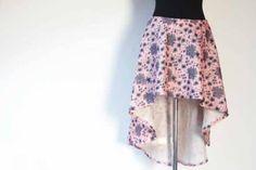 Návod a střih na dámskou asymetrickou sukni Ballet Skirt, Skirts, Fashion, Moda, Fashion Styles, Skirt, Fashion Illustrations, Gowns, Skirt Outfits