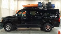 Nissan Van with Aluminess roof rack