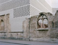 Museum Kolumba | by Peter Zumthor a) hard facade vs a soft one accentuated by the lattice b)lattice work