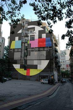 Απίστευτο: To προφητικό τεράστιο γκράφιτι της Αθήνας για το λουκέτο στην ΕΡΤ [εικόνες] | iefimerida.gr