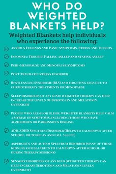 Do Weighted Blankets Help? Weighted blankets are useful for adults, kids, everyone. But how do they work for anxiety? Learn more!Weighted blankets are useful for adults, kids, everyone. But how do they work for anxiety? Learn more! Making A Weighted Blanket, Weighted Blanket For Anxiety, Weighted Blanket For Adults, Weighted Vest, What Is Fear, Trouble Falling Asleep, Restless Leg Syndrome, Sensory Processing Disorder, Anxiety In Children