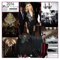 """Best Trend Of 2016: Gothic Glam"" by kittyfantastica ❤ liked on Polyvore featuring Yves Saint Laurent, Chanel, John Hardy, Gathering Eye, Valentino and CARGO"