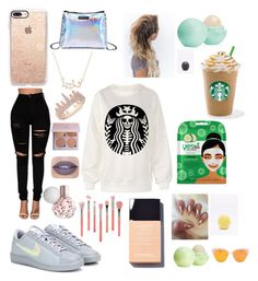 """""""The basic starter pack"""" by divakitten12 on Polyvore featuring NIKE, Casetify, Anne Sisteron, Bdellium Tools, Yes to Cucumbers, Eos, men's fashion and menswear"""