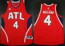Atlanta Hawks #4 Paul Millsap Red Stitched Revolution 30 Swingman NBA Jersey