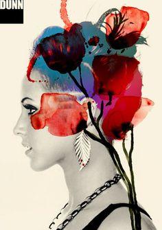 Tarik Mikou- La superposition photo et peinture apporte beaucoup de poésie et d'élégance.