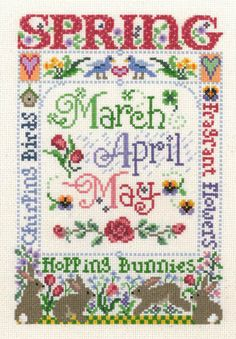 Spring Season - Cross Stitch Pattern
