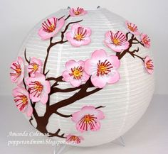 Cherry Blossom Chinese Lantern and Inking Edges Video Tutorial ...