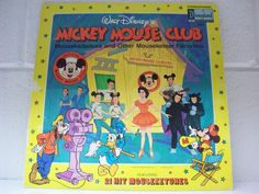 DISNEYLAND RECORD Mickey Mouse Club 1975 Mouseketeers Children's LP Album Music by thethriftygal on Etsy