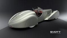 3D model Bugatti 57s roadster Salon de Paris 1936
