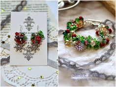 Holiday glitz Charming festive sparkle snowflake earrings & bracelet