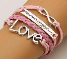 Pink loom bandsbracelets banglesleather by creativezone2014, $4.55