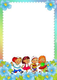 Álbum - Google+ Boarder Designs, Page Borders Design, Portfolio Kindergarten, Free Printable Stationery, Printable Labels, School Border, Boarders And Frames, School Frame, Powerpoint Background Design