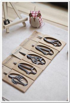 Antigua tijera tijeras Zakka suministros de costura por lacetime