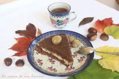 Gâteau à la châtaigneet brousse de brebis: un dessert de hobbit!