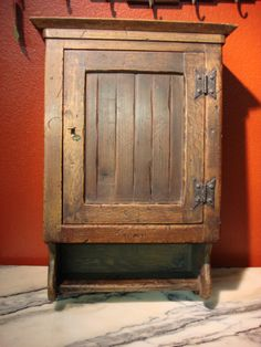 Antique French Rustic Medicine Cabinet Wall Cabinet. I would love this for my bathroom!