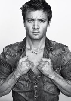 Jeremy Renner GQ. I have this on another board already, but DAMN he looks soooooooo good, I had to pin it again. My FAVORITE Renner pic.