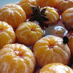 Clementinas em calda