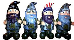 NEW!!  DUCK DYNASTY GARDEN GNOMES.....FULL SET!  Phil  Jase  Si  Willie!  Watch!
