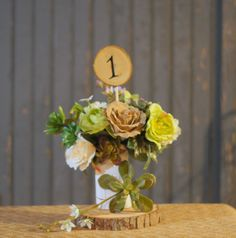 24 Rustic Table Numbers - Log Slice Table Numbers Rustic Wedding
