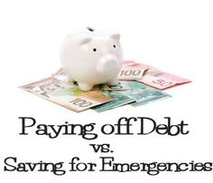 Paying Off Debt vs. Saving For Emergencies via MrsJanuary.com #money